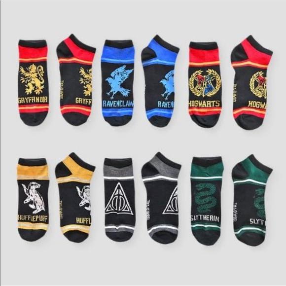 Harry Potter Kid Socks S//M 6 Pairs Of Shoe Size 9-3